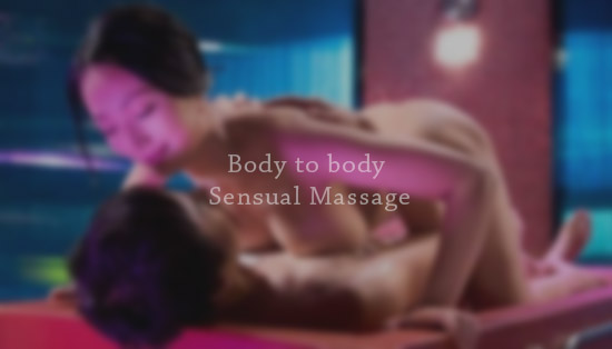 a body to body erotic massage is performed by a beautiful woman