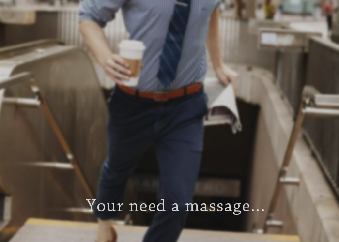 busy business men needs body to body massage