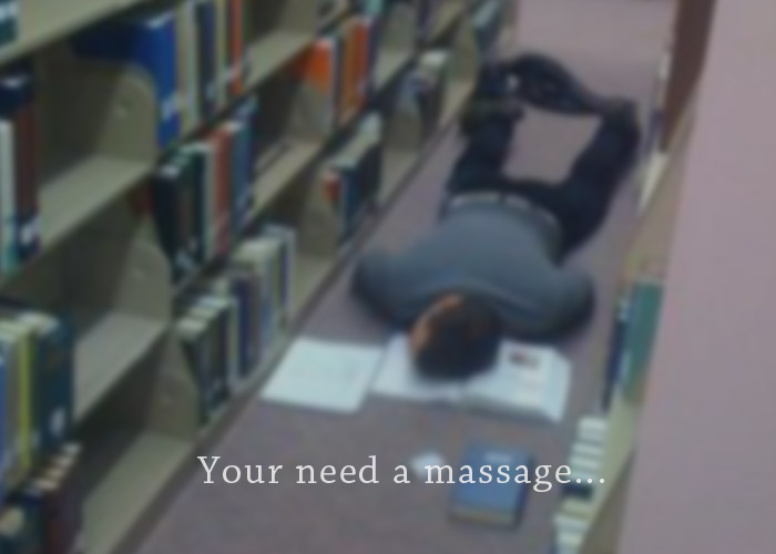 student needs a massage